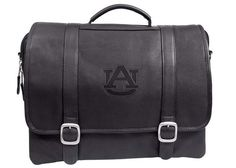 Auburn Tigers 16 Inch Leather Computer Briefcase