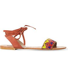 STEVE MADDEN Shaney beaded suede sandals (Multi-suede