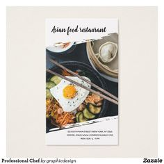 Professional #Chef #culinary #cooking #photography #businesscard - I do have lots of photos - Check more at www.zazzle.com/graphicdesign