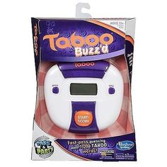 Hasbro Gaming Taboo Buzz'd Electronic Party Game Handheld for sale online Adult Games, Games For Girls, Fun Games, Party Games, Taboo Words, Taboo Game, Gaming, Traditional Games, Games