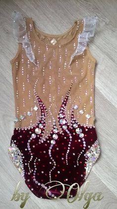 3af60c95ea3 Made To Measure RHYTHMIC GYMNASTICS Leotard Kids Dancewear Velvet Wine Red  Without skirt