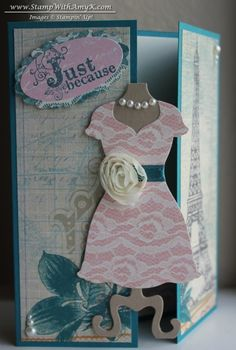Dressed Up Framelits with Vintage Verses Gate Fold Card | Stamp With Amy K