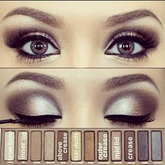 """Love that they have included a map of what goes where! this is with urban decay's """"naked"""" palette"""