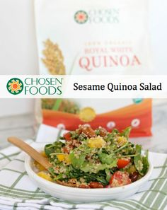 quinoa salad with sesame roasted almonds more healthy quinoa salad ...