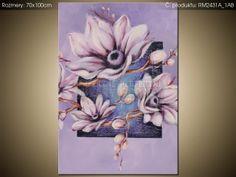 Ručne maľovaný obraz Pokojná magnólia 70x100cm RM2431A_1AB