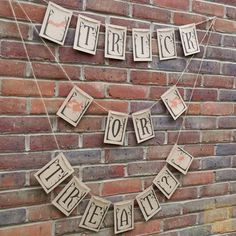 Trick of Treat? Halloween Bunting Banner – Rustic Vintage Style in Home, Furniture & DIY, Celebrations & Occasions, Party Supplies   eBay