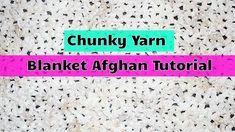 How to Crochet Chunky Blanket Afghan for Beginners