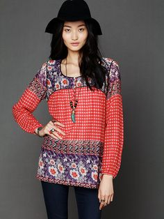 Free People India Print Tunic at Free People Clothing Boutique
