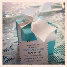 My Breakfast at Tiffany's bridal shower favors. :)