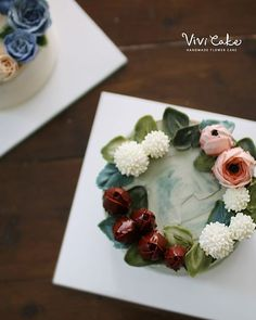 buttercream flowercake Made by_Vivi . . . Vivi cake www.vivi-cake.com…