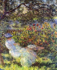 Claude Monet Pictures Young | Alice Hoschedé in the Garden (1881) [Colección privada]