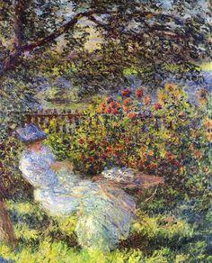 Claude Monet Pictures Young | Alice Hoschedé in the Garden (1881) [Colección privada]