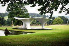 Zaha Hadid's 2007 Serpentine Pavilion Re-Erected at Chatsworth House,