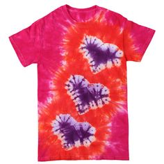 Show details for Floating Hearts Tie-Dye T-shirt