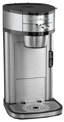 Purchase the Hamilton Beach 49981 Single Serve Scoop Coffee Maker, Stainless Steel at charingskitchen.com
