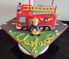 Fireman Sam cake by Thomas Birthday Cakes, Frozen Birthday Cake, Fire Engine Cake, Fireman Sam Cake, Fire Fighter Cake, Firefighter Birthday, 2nd Birthday Parties, 4th Birthday, Birthday Ideas