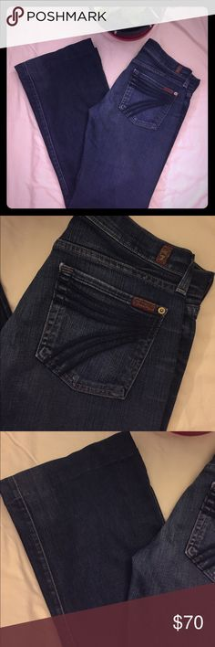 7 FOR ALL MANKIND Flare Dojo Jeans - 28 EUC. No trades We are a smoke and pet-free home. 7 For All Mankind Jeans Flare & Wide Leg