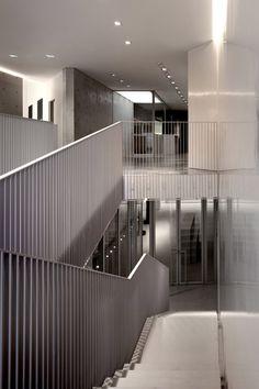Vertical steel railing