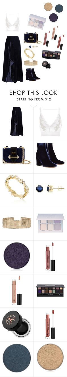 """""""Blue might"""" by eledestro ❤ liked on Polyvore featuring Roland Mouret, River Island, Prada, Gianvito Rossi, Sydney Evan, Accessorize and Anastasia Beverly Hills"""