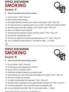 Smoking, English, Learning English, Vocabulary, ESL, English Phrases, http://www.allthingstopics.com/smoking.html