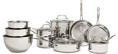 serving up everything you need — @Cuisinart chef's classic 11-pc. stainless steel cookware set with bonus set of stainless steel bowls