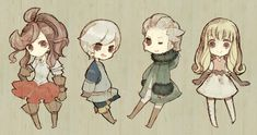 Unita, Brand, Jusqua & Aire - Final Fantasy The Four Heroes Of Light
