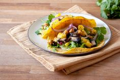 The Vegan Chickpea: Pineapple & Portobello Tacos with Roasted Chickpeas