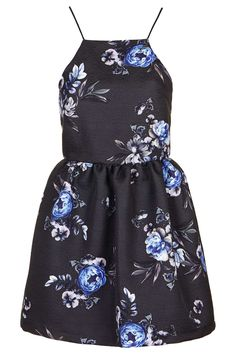 Photo 1 of Strappy Floral Jacquard Dress