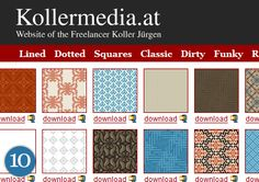 Top 10 Free Resources for Background Patterns and Textures for Web Designers