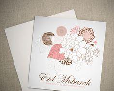 Printable Eid Mubarak Card Digital Download par MyButterflyGallery