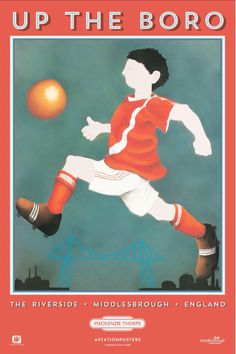 New Mackenzie Thorpe posters Middlesbrough Train Station. Was that handball?