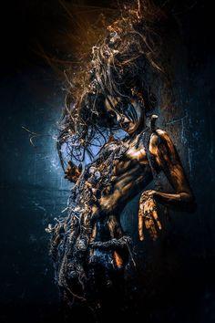 Photography by Stefan Gesell Dark Art Photography, Creative Photography, Arte Horror, Horror Art, Vegetal Concept, Fantasy Costumes, Dark Fantasy Art, Dark Beauty, Photo Manipulation