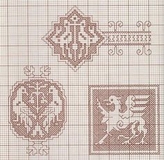 Great collection of patterns point in Assisi Sashiko Embroidery, Embroidery Sampler, Cross Stitch Embroidery, Embroidery Patterns, Cross Stitch Patterns, Motifs Blackwork, Eva Marie, Needle And Thread, Filet Crochet