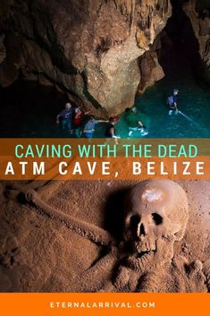 Go caving in the Sacred Cave in the world as voted by National Geographic! Actun Tunichil Muknal (or ATM Cave) in San Ignacio, Belize glitters with crystals and has remains of Maya human sacrifice victims. Visit this amazing cave before it's too late! Belize Vacations, Belize Travel, Mexico Travel, Cave Tours, Belize City, South America Travel, Central America, Family Travel, Family Vacations