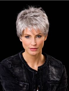 Explore our collection of gorgeous wigs, extensions, and hair pieces. We have Cropped Wavy Boycuts Hand-tied Wigs for every occasion. Short Hair Over 60, Short White Hair, Short Hair With Layers, Short Hair Cuts For Women, Haircut For Thick Hair, Cute Hairstyles For Short Hair, Wig Hairstyles, Curly Hair Styles, Hairstyles 2016