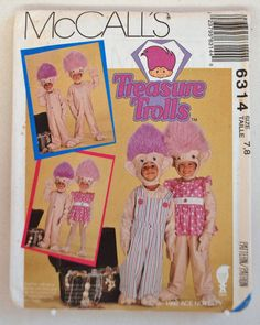 McCall's Pattern 6314 - Treasure Trolls Costume, Size (7, 8), With Overalls and Dress Outfits by littlerosecreations on Etsy