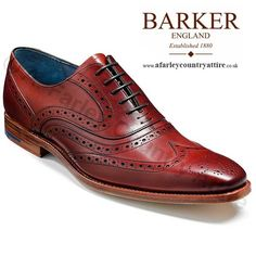 Barker Shoes SS14 - McClean Brogue - Rosewood Calf - Available to buy online at…