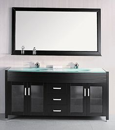 Design Element Waterfall Double Drop-in Integrated Tempered Glass Sink and Countertop Vanity Set with Espresso Finish 72-Inch For Sale https://modernbathroomvanitiesreviews.info/design-element-waterfall-double-drop-in-integrated-tempered-glass-sink-and-countertop-vanity-set-with-espresso-finish-72-inch-for-sale/