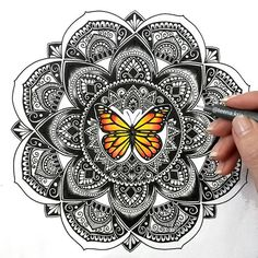 There's nothing in a caterpillar that tells you it's going to be a butterfly. You have abundant potential. Unfold your wings. Believe. And make your dreams a reality.  . Facebook: Teena Kris Mandalas. DM for custom designs/collabs. . . . . #art #artwork #drawing #mandala #artistic #sketchdaily #mandalastyle #mandalala #artspipl #dailyart #sacredgeometry #butterfly #inkedmandalas #mandalaplanet #mandalaart #blxckmandalas #mandalalove #mandaladesign #design #detailed #zentangle…