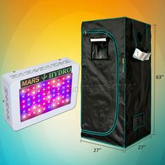 Mars 300W LED grow light panel lamp hydro and 27 27 63 indoor grow tent kits. Full spectrum led grow lighting hydroponics soil garden. Suitable for plant herbs medicals bonsai vegetables fruits peppers strawberries tomatoes orchid. An overall savings of 70% can be expected compared with growing with HPS lamp. Best buy! #hydroponicgardeningstrawberries