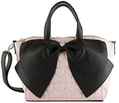 Betsey Johnson Candy Stripe Bow Nanza Satchel Purse Shoulder Bag Handbag * More info could be found at the image url.