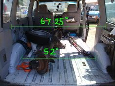 Astro van interior dimensions for van to camper conversion