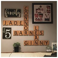 Gallery Wall Package Scrabble Style Letter Tiles Family Number Sign Crossword Lettered Scrabblets