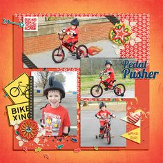 Digital Scrapbook Template - Weekly Life 4   Scrapping with Liz
