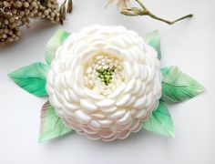 Ivory Hair Accessory/ Ivory Flower/Ivory Flower Hair Clip/ Flower girl gifts Also perfect for Holiday Gifts, Birthdays, Church, Weddings, Flower