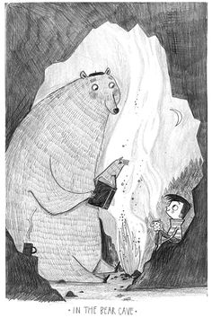 Alex T Smith -Sketchbook bear via Arena Illustration