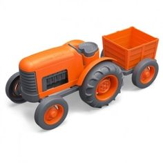 The Green Toys™ Tractor puts a whole new spin on farm-to-table. With chunky, go-anywhere tires and a detachable rear trailer, little farmers can harvest and haul the freshest organic produce their imaginations can grow.