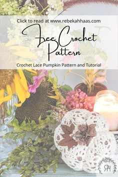 Make an adorable addition to your fall decor using this free crochet pattern. The small crochet lace pumpkin pattern can be found free by clicking the link. Crochet Pillow, Crochet Lace, Free Crochet, Crochet Designs, Crochet Ideas, Crochet Patterns, Crochet Fall Decor, Crochet Pumpkin, Yarn Needle