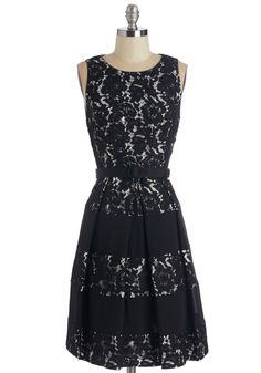 Lacy Sassy Cool Dress. A glimpse at your exquisite reflection confirms that youre really diggin on this chic black-and-white dress! #black #modcloth