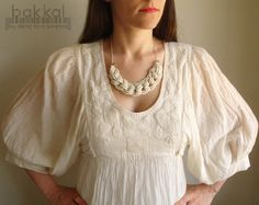 Ivory Cord Necklace Rope Necklace Knot Necklace Sailors by bakkal